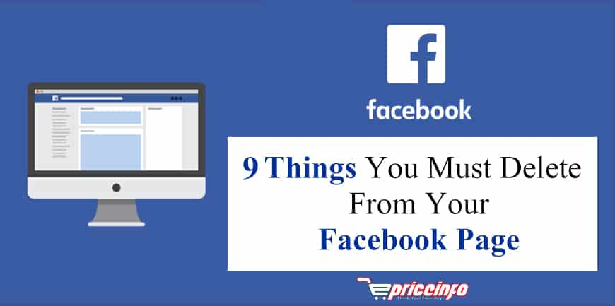 Delete 9 things from your Facebook