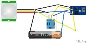 ESP826601 PIR and DHT on Thingspeak  Hacksterio
