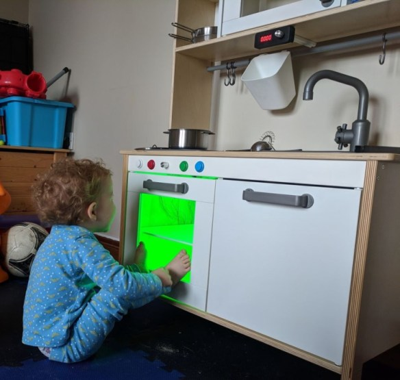 awesome dad upgrades ikea play kitchen