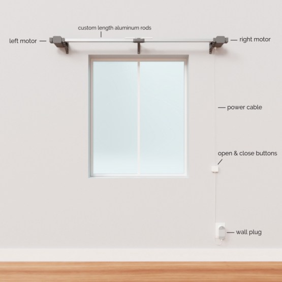 tired of opening your own curtains use