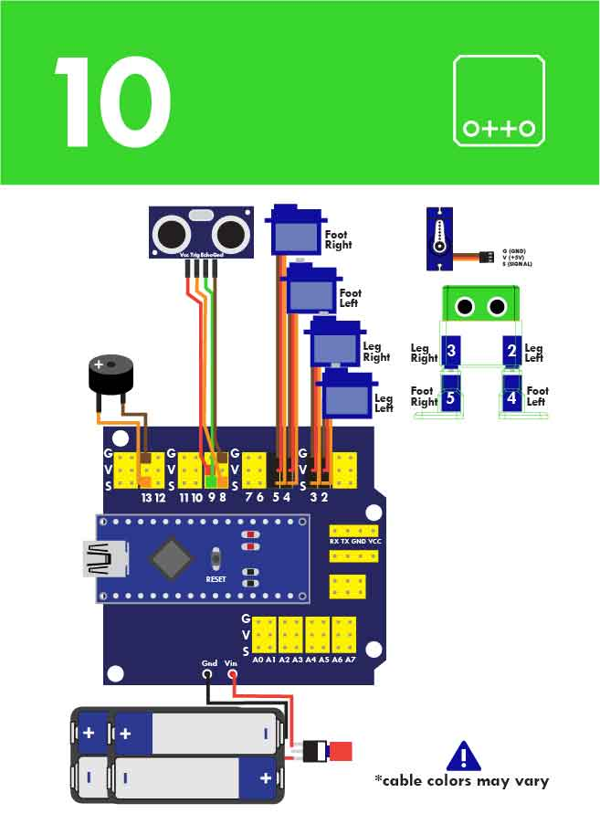 otto diy build your own robot in one hour  arduino project hub