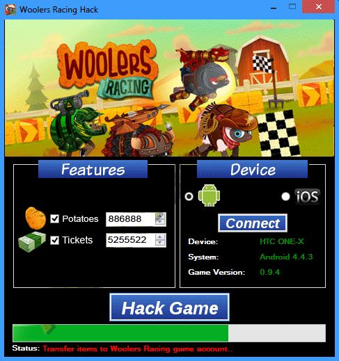 Woolers Racing Hack unlimited potatoes and tickets