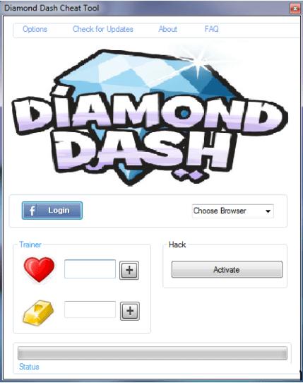 Diamond Dash Hack lives Add unlimited gold