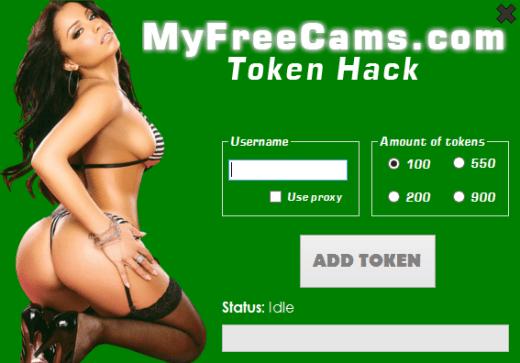 MyFreeCams Hack Add 550 tokens Add 900 tokens