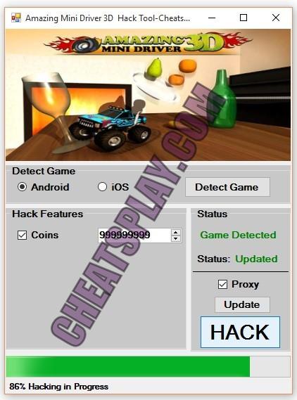 Amazing Mini Driver 3D Hack Tool