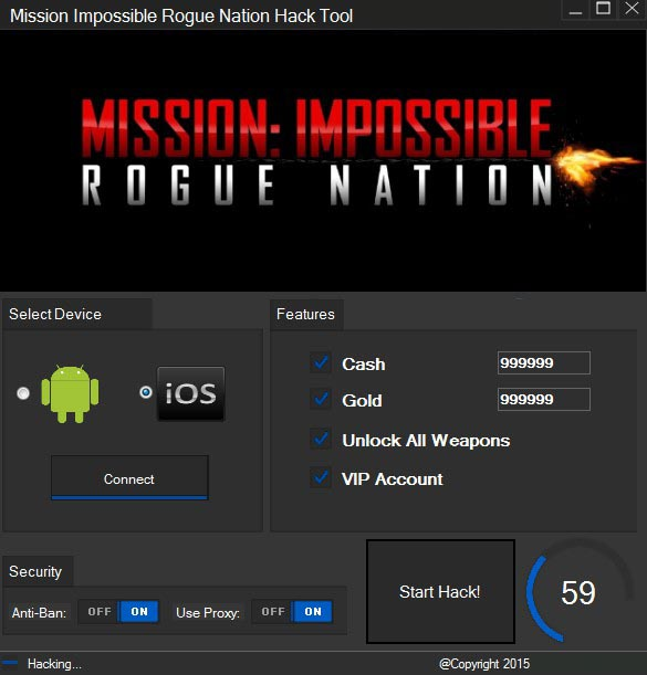 Mission Impossible Rogue Nation Hack Tool