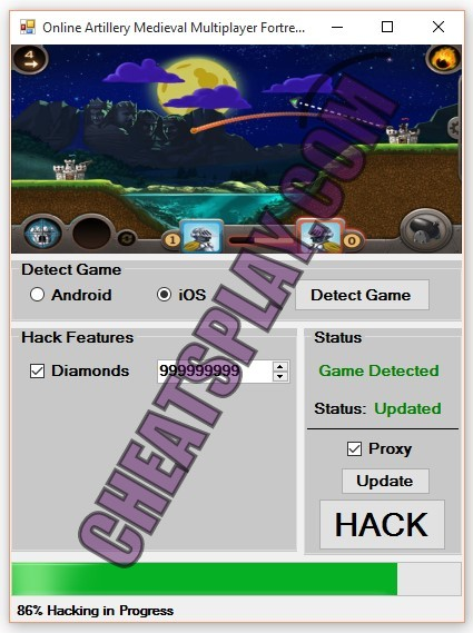 Online Artillery Medieval Multiplayer Fortress Siege Hack Tool