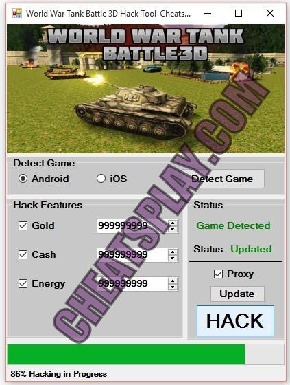 World War Tank Battle 3D Hack Tool