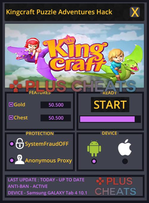 Kingcraft Puzzle Adventures hack