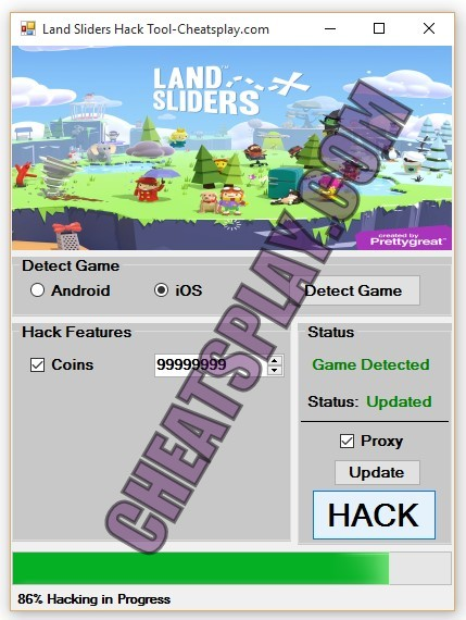 Land Sliders Hack Tool
