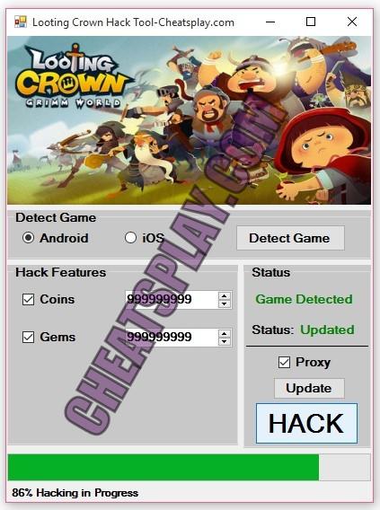 Looting Crown Hack Tool