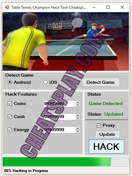 Table Tennis Champion Hack Tool