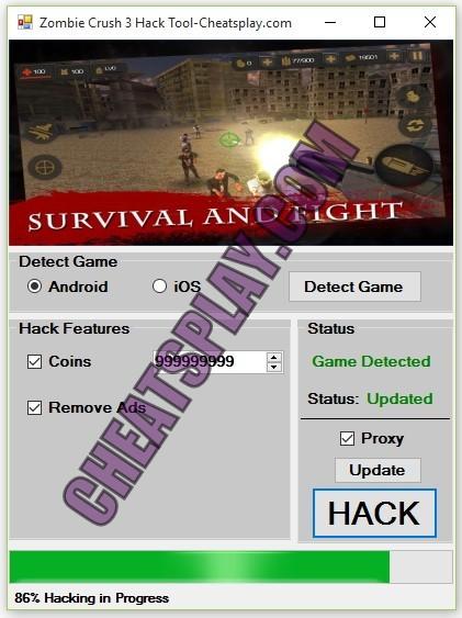 Zombie Crush 3 Hack Tool