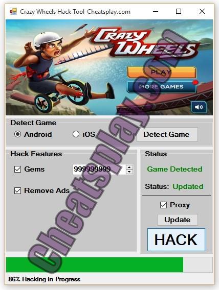 Crazy Wheels Hack Tool