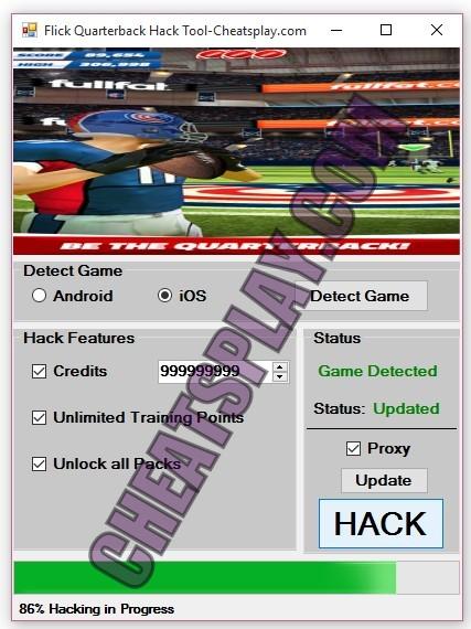 Flick Quarterback Hack Tool
