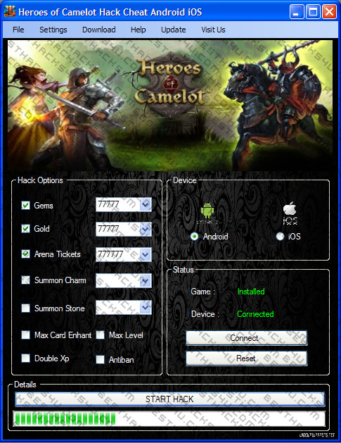 Heroes of Camelot hack