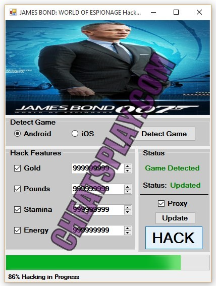 JAMES BOND WORLD OF ESPIONAGE Hack Tool