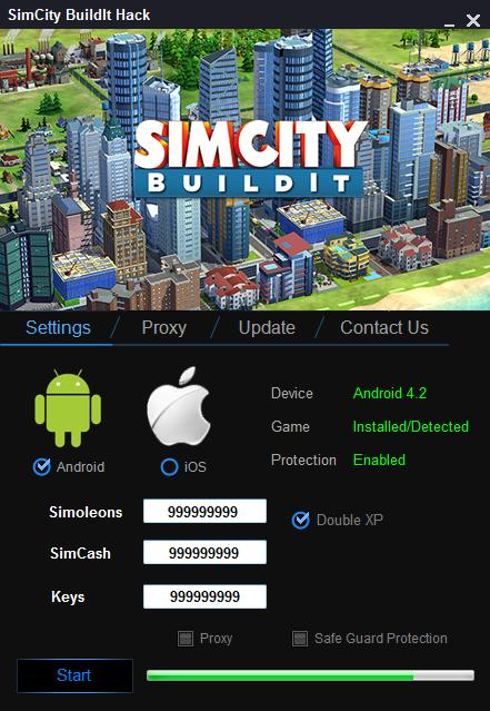 SimCity BuildIt FREE hack Simcash & keys