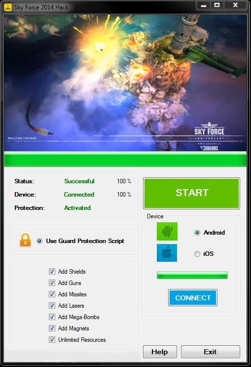 Sky Force 2014 hack