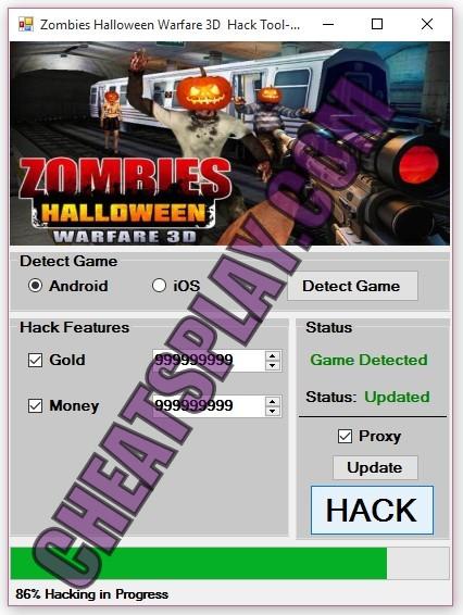 Zombies Halloween warfare 3D Hack Tool