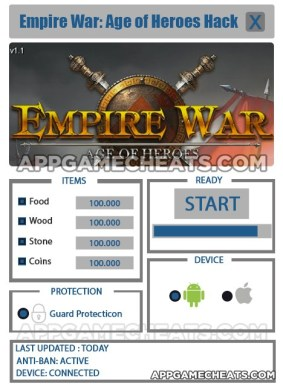 Empire War: Age of Heroes Hack