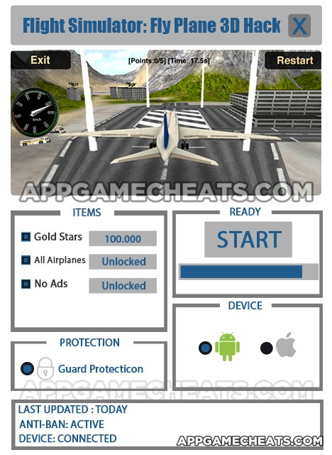 flight-simulator-fly-plane-3d-cheats-hack-gold-stars-all-airplanes-no-ads