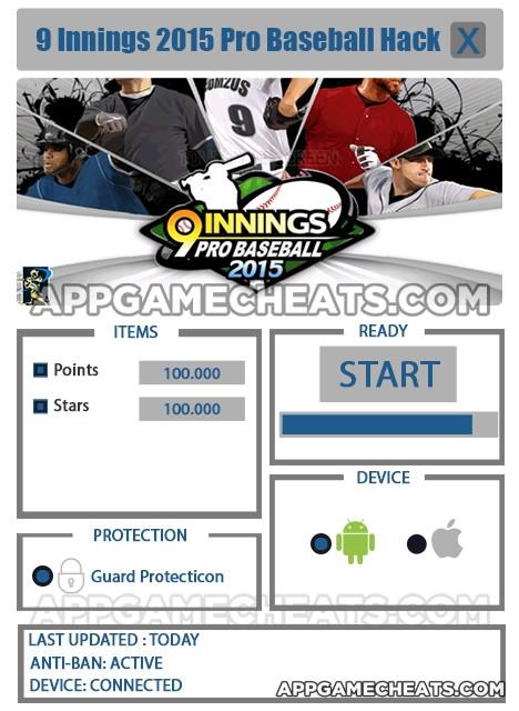 nine-innings-2015-pro-baseball-cheats-hack-points-stars