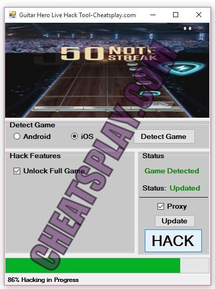 Guitar Hero Live Hack Tool