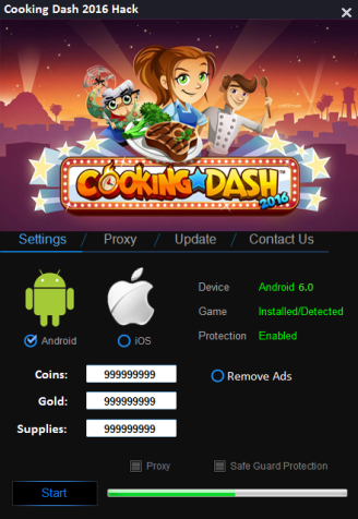 Cooking Dash Hack Unlimited Coins, ADD Unlimited Gold
