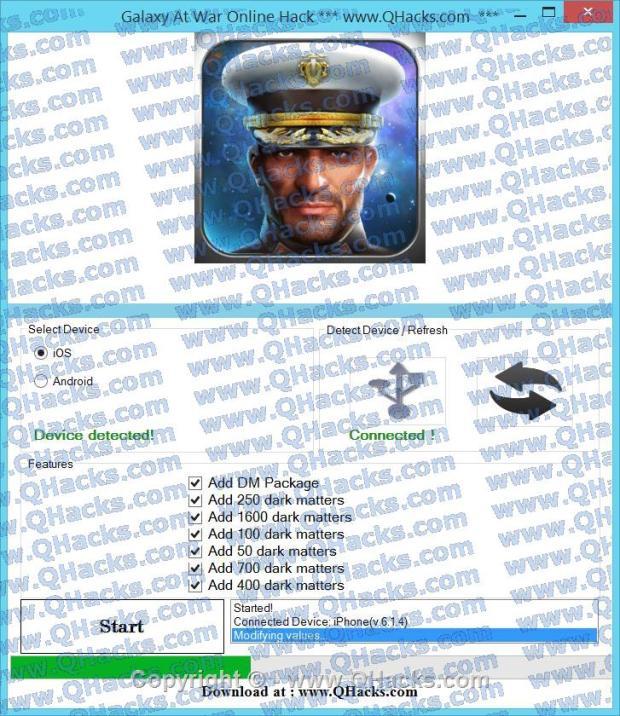 Galaxy At War Online hacks