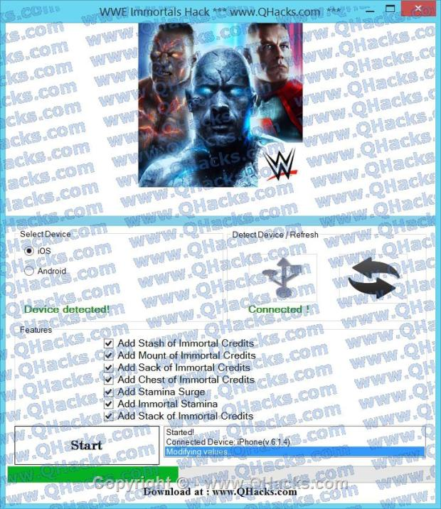 WWE Immortals hacks