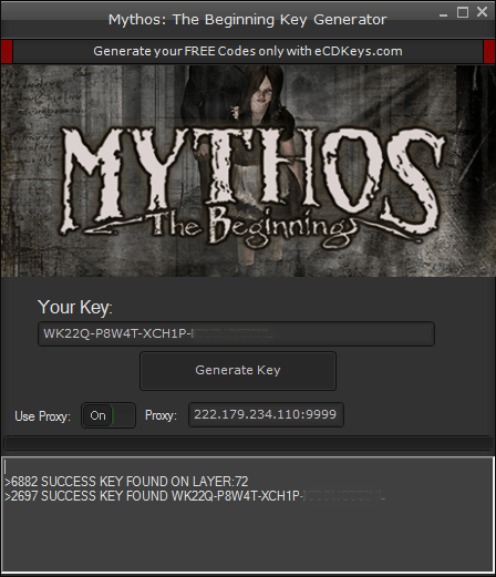 Mythos: The Beginning cd-key