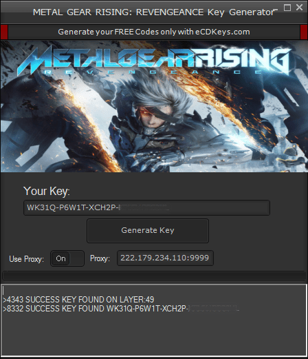 METAL GEAR RISING: REVENGEANCE cd-key
