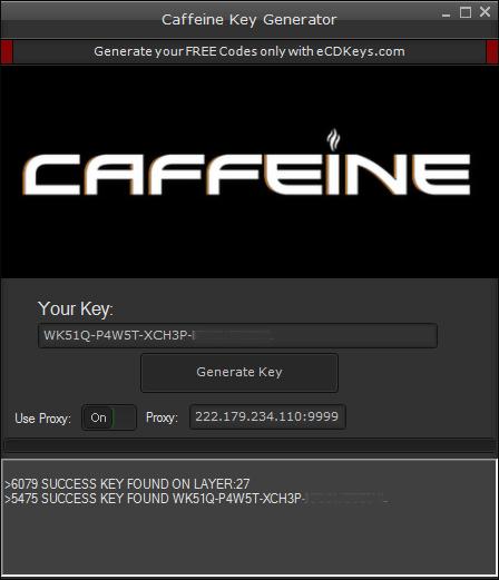 Caffeine cd-key