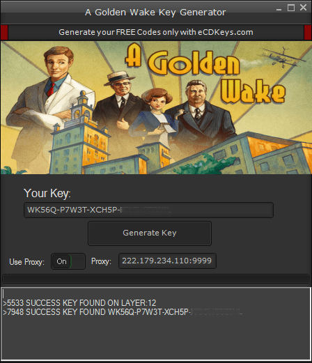 A Golden Wake cd-key