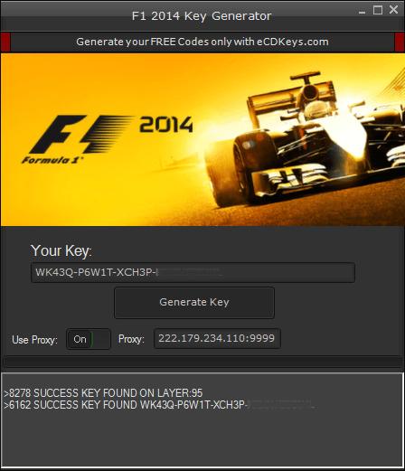 F1 2014 cd key