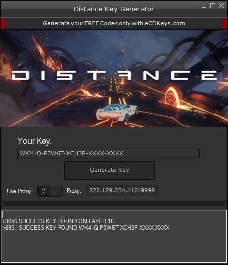 Distance cd-key