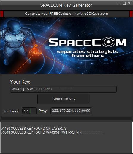 SPACECOM cd-key