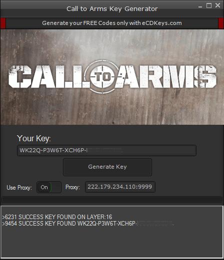 Call to Arms cd-key