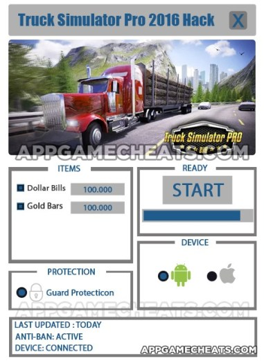 Truck Simulator 2016 Hack for Dollar Bills & Gold Bars