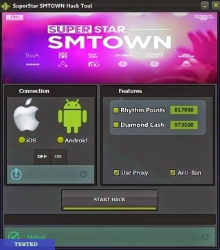 SuperStar SMTOWN Cheat HackTool Unlimited Rhythm Points and Diamond Cash (Android/iOS) 2