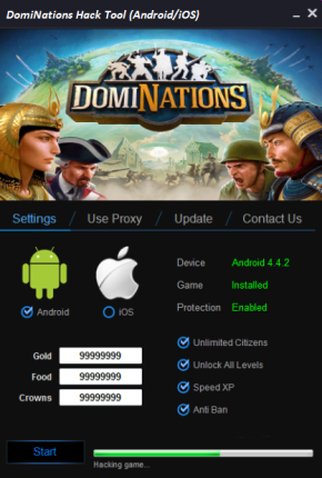 DomiNations Hack Gold Boundless Food Boundless Crowns