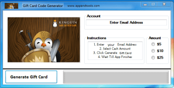 Kinguin Gift Card Generator