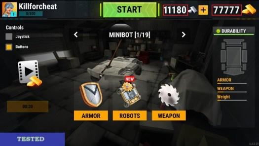 Robot Fighting 2 Minibots 3D Hack