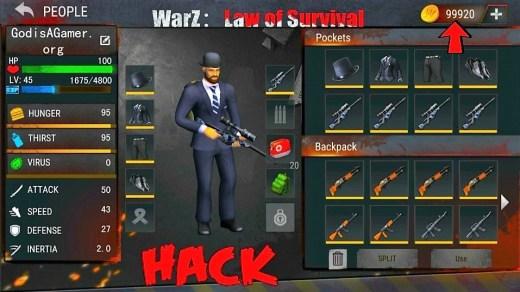 WarZ: Law of Survival Hack (MOD, Unlimited Money) Apk