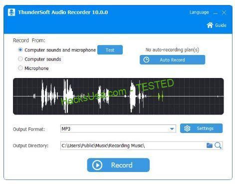 Imagini pentru ThunderSoft Audio Recorder 10.0.0 With Crack