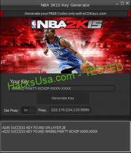 Free NBA 2K15 Keygen