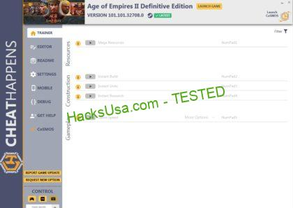 Age of Empires 2: Definitive Edition Trainer Instant Units