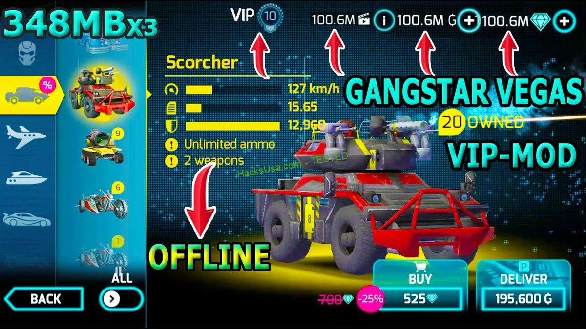 Gangstar Vegas Mod Hack Unlimited Diamonds and Money