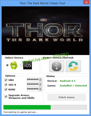 Thor The Dark World Hack and Cheats for Android and IOS Free